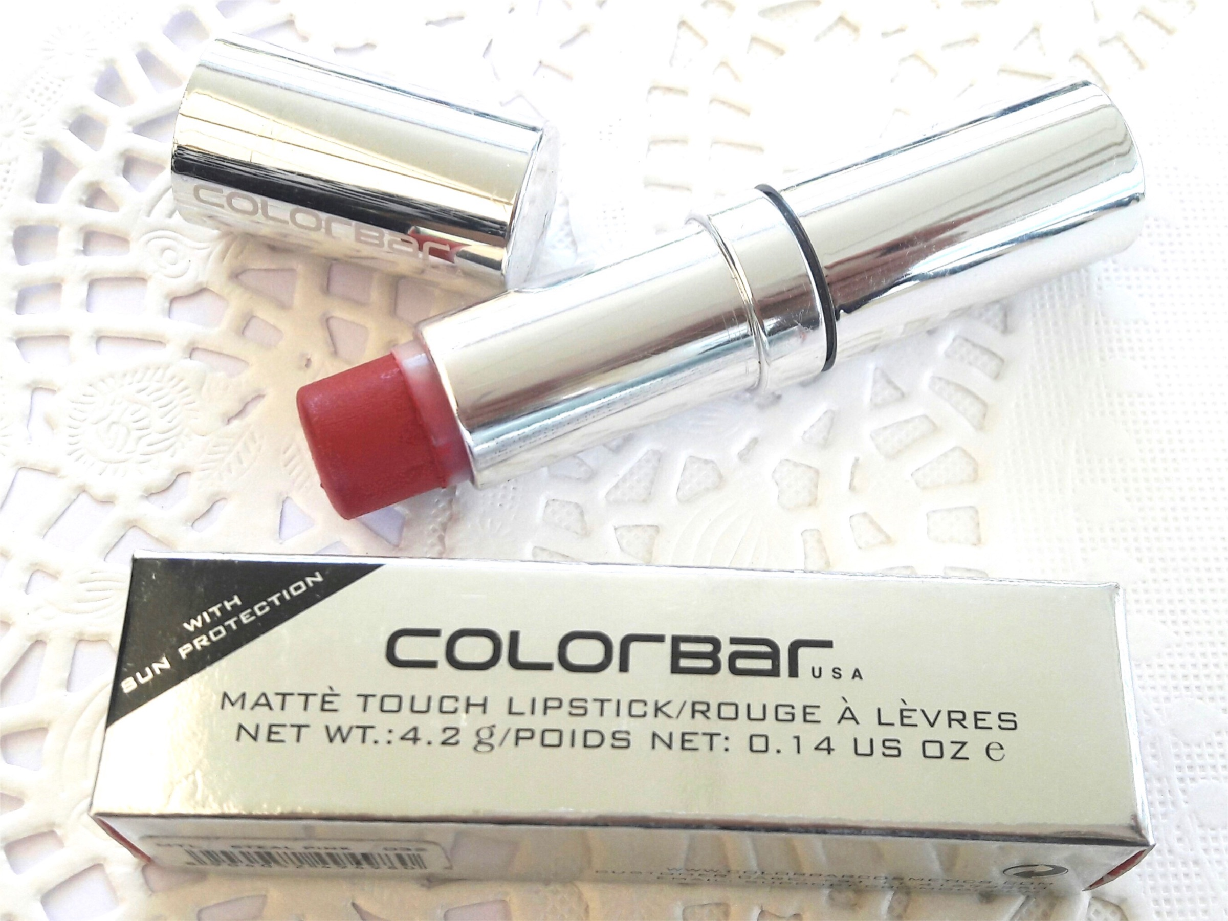 Colorbar Matte Touch Lipstick Steal Pink 32 Review Swatches