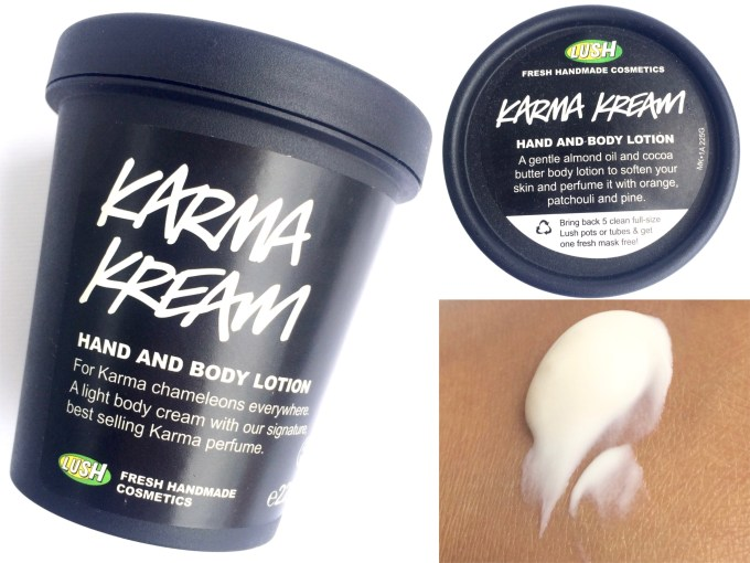 LUSH Karma Kream Review