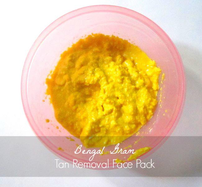 bengal gram tan removal face pack