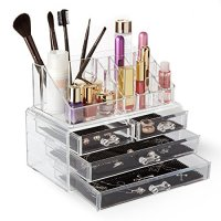 Homekit Large Capacity Cosmetic Make-up & Jewellery Organizer with 16 compartments plus 4 Drawers