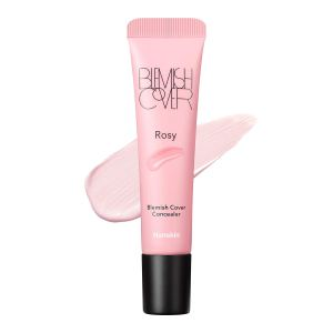 how to conceal undereye dark circles with Hanskin Rosy Blemish Cover, Dark Circle Cover, Full Coverage Color Correcting Concealer