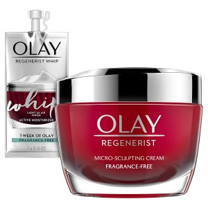 Olay Regenerist Micro-Sculpting Cream Face Moisturizer to get glowing skin