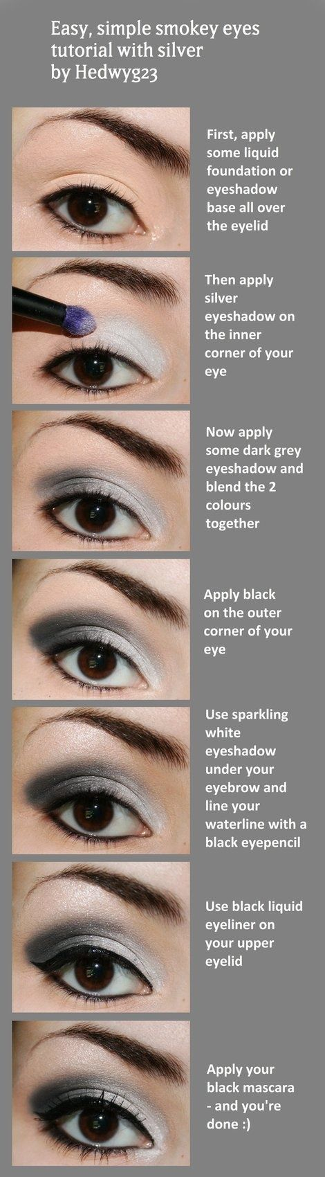Black And Silver Eye Makeup 15 Easy And Stylish Eye Makeup Tutorials How To Wear Eye Makeup