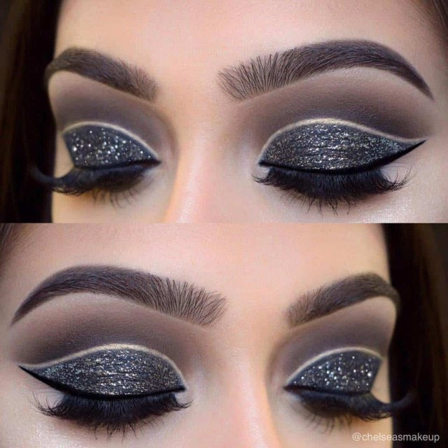 Black And Silver Eye Makeup 26 Cut Crease Makeup To Make Your Eyes Really Pop Ritely