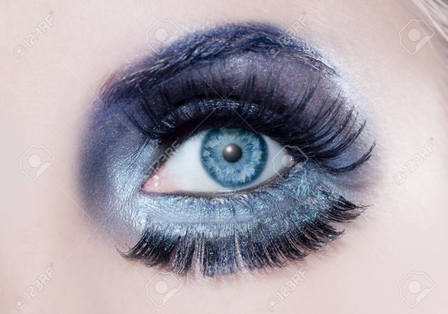 Black And Silver Eye Makeup Blue Eyes Macro With A Winter Inspired Silver Black Makeup Some