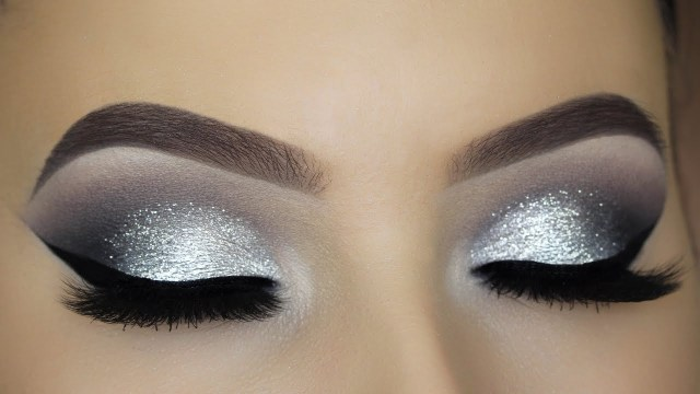 Black And Silver Eye Makeup Classic Silver Glitter Eye Makeup Tutorial Youtube