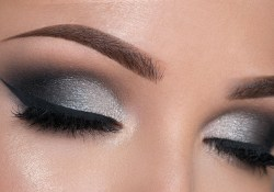 Black And Silver Eye Makeup Night Out Makeup Tutorial Black Silver Smokey Eye Youtube