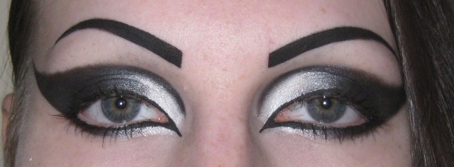 Cool Black Eye Makeup Dramatic Gothic White To Black Extended Winged Cat Eye Makeup