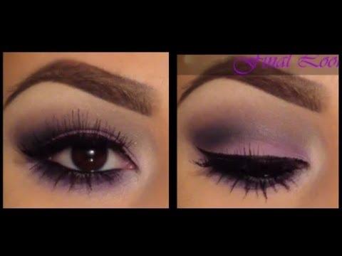Deep Purple Eye Makeup Easy Purple Smokey Eye Tutorial Youtube