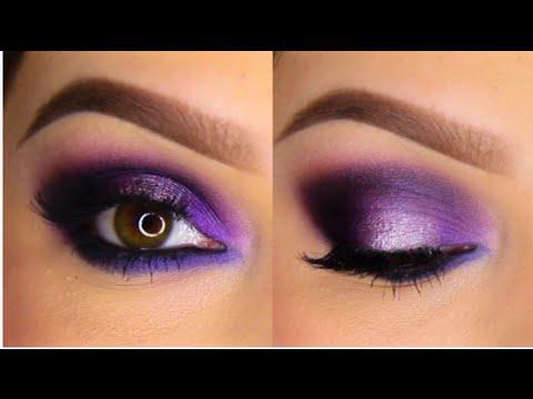 Deep Purple Eye Makeup Purple Smokey Eye Tutorial Youtube