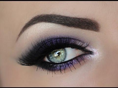 Deep Purple Eye Makeup Sultry Purple Smokey Eye Youtube