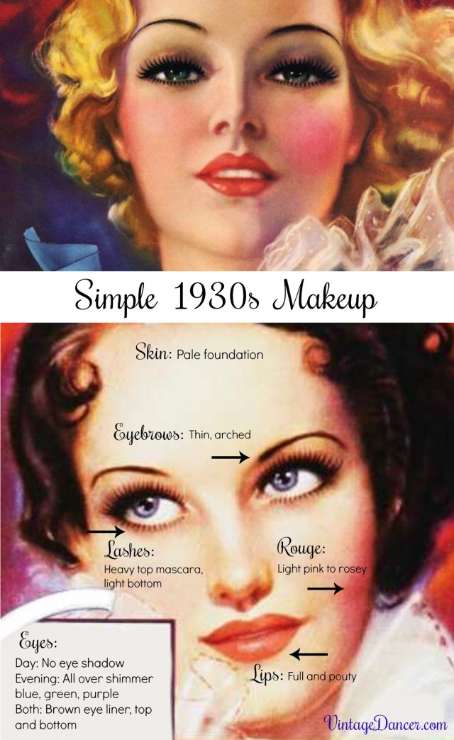 Easy Evening Eye Makeup Simple Natural 1930s Makeup Guide