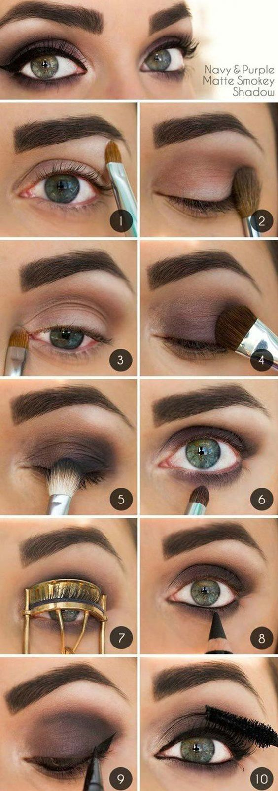 Eye Makeup For Brown Eyes Steps 10 Step Step Makeup Tutorials For Green Eyes Her Style Code