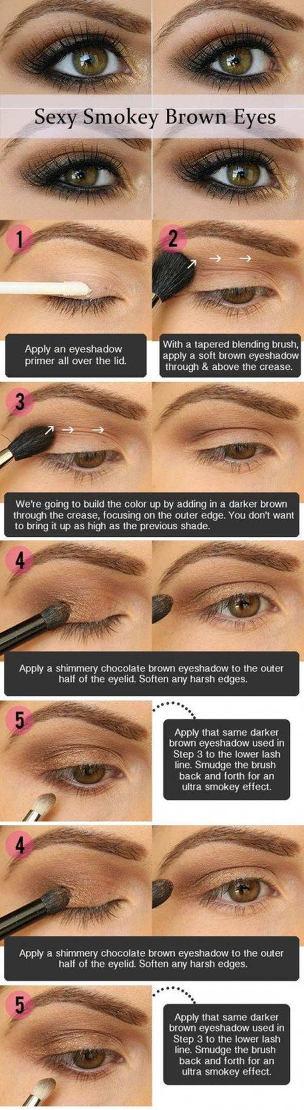 Eye Makeup For Brown Eyes Steps Gorgeous Easy Makeup Tutorials For Brown Eyes Makeup Tutorials