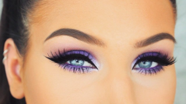 Eye Makeup Summer Simple Bright Purple Smokey Eyes Springsummer Makeup Tutorial