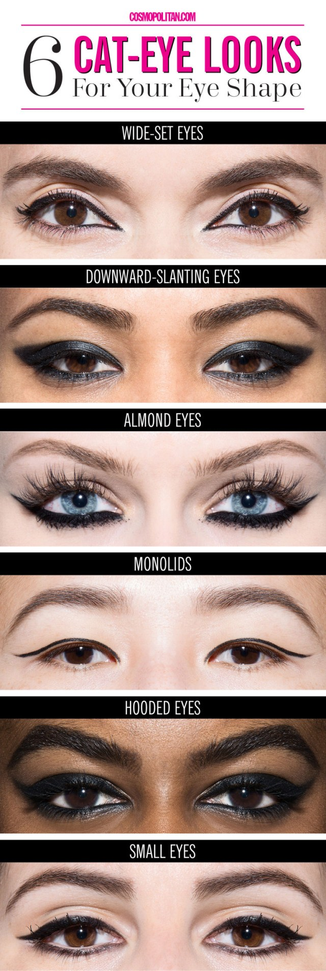 Eye Shapes For Makeup 6 Ways To Get The Perfect Cat Eye For Your Eye Shape Trend To Wear