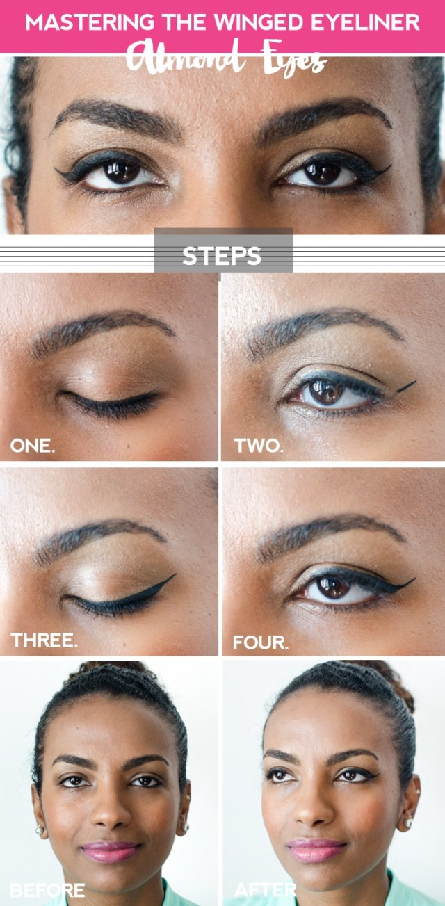 Eye Shapes For Makeup Clumsy Chic Perfecting The Winged Eyeliner For Your Eye Shape