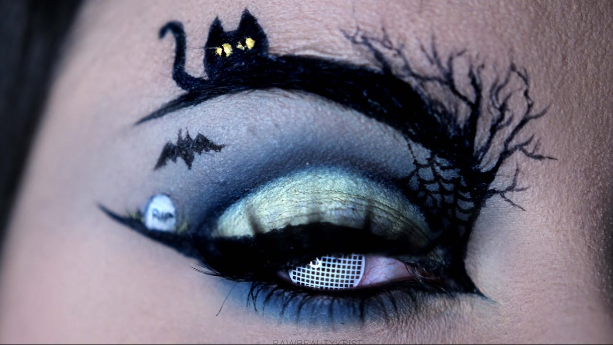 Halloween Eye Makeup Happy Halloween Halloween Eye Art Makeup Tutorial