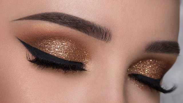 Makeup Smokey Eyes Easy Copper Glitter Smokey Eye Makeup Tutorial Youtube