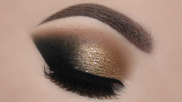 Makeup Smokey Eyes Gold Glam Cat Smokey Eyes Perfect Skin Makeup Tutorial
