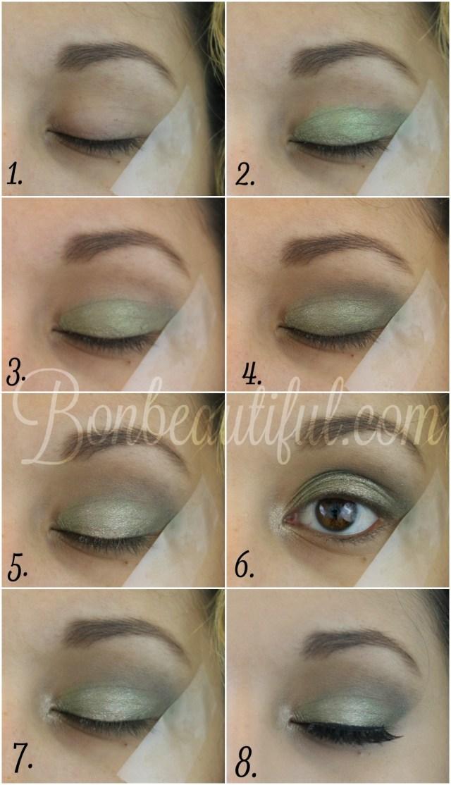 Makeup Tape Eyes Olive Green Smokey Eye Makeup Tutorial Bondbeautyful