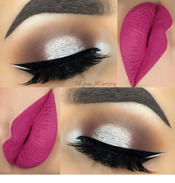 Pink And Silver Eye Makeup Amazing Silver Eye Makeup And Matte Pink Lips Pins For Ladies