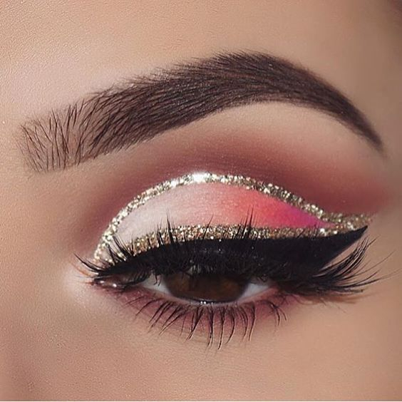 Pink And Silver Eye Makeup Lovely Pink Eye Make Up With Silver Glitter Miladies