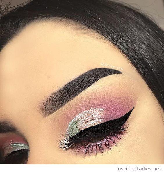 Pink And Silver Eye Makeup Silver And Pink Eye Makeup Inspiring Ladies