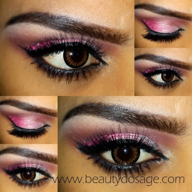 Pink Eye And Makeup Eotd Pink Glitter Dramatic Party Eye Makeup Beauty Dosage
