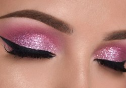 Pink Eye Makeup Pink Glitter Smokey Eye Makeup Tutorial Youtube