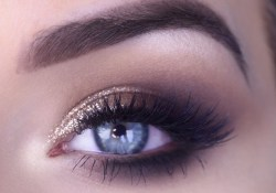 Prom Makeup Ideas For Brown Eyes Easy Prom Eye Makeup Tutorial Bronze Glitter Smokey Eye Youtube