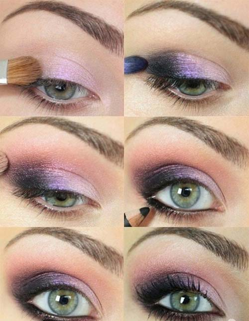 Purple And Gold Smokey Eye Makeup 25 Gorgeous Eye Makeup Tutorials For Beginners Of 2019