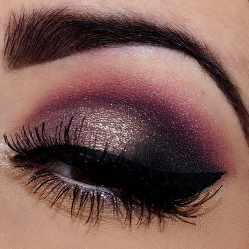 Purple And Gold Smokey Eye Makeup Best Eyeshadow Color Tips For Black Eyes Indian Makeup And Beauty