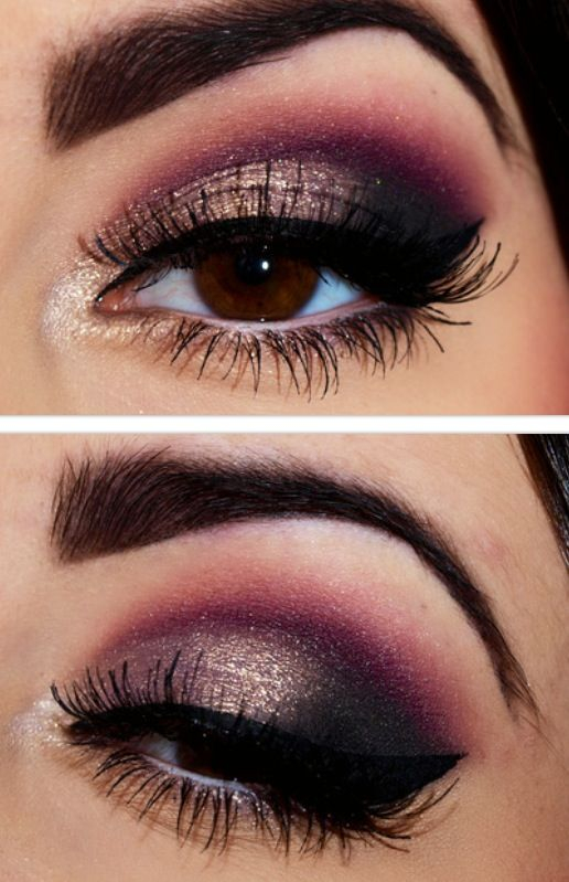 Purple And Gold Smokey Eye Makeup Gold And Black Smokey Eye Tutorials Best Gold And Black Eye Shadow