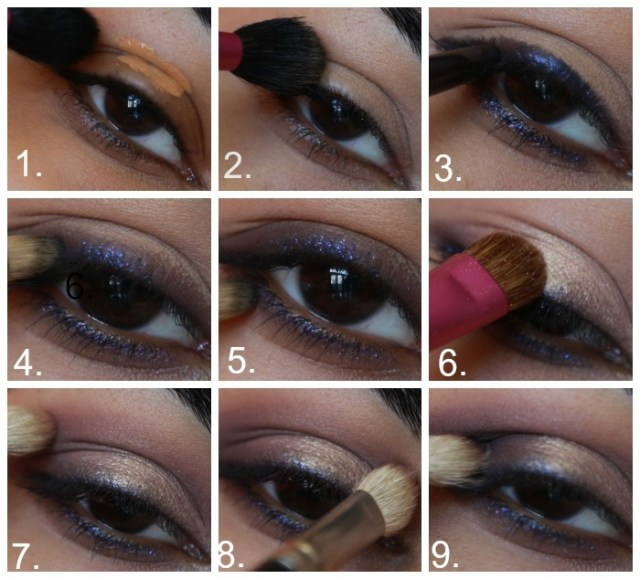 Purple And Gold Smokey Eye Makeup Purple Gold Smokey Eye Makeup Tutorial