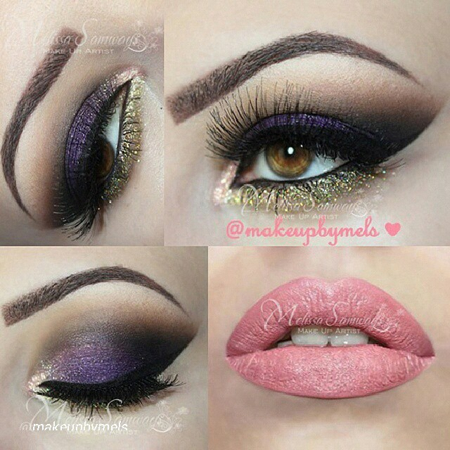 Purple And Gold Smokey Eye Makeup Sultry Purple And Gold Eye Shadow I Love Cute Makeup