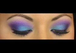 Purple And Turquoise Eye Makeup Purple Rain Bright Turquoisepurple Look Using Bh Cosmetics Youtube