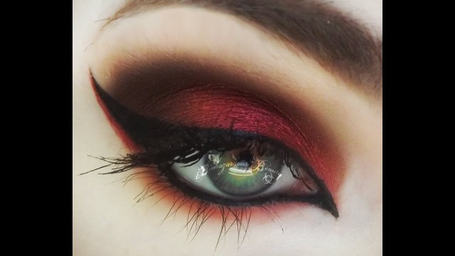 Red And Black Eye Makeup The Mad Hatters Asylum Red Eyeshadow Tutorial Youtube