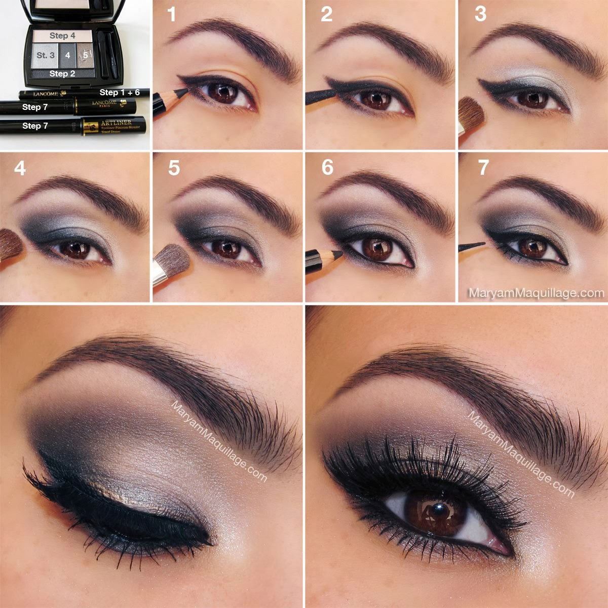 smoking eye makeup steps smokey eye makeup tutorial step