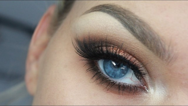 Winged Eye Makeup Copper Winged Eyeshadow Youtube