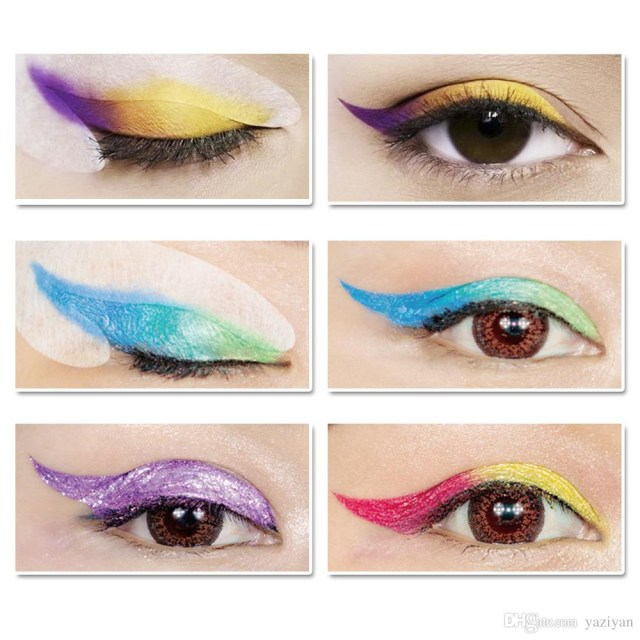 Winged Eye Makeup Lanbena Rainbow Party Fashion Wing Eye Liner Eye Shadow Stickers
