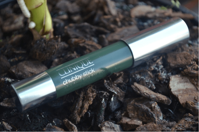 Clinique Chubby Stick Shadow Tint For Eyes 06 Mighty Moss review swatches