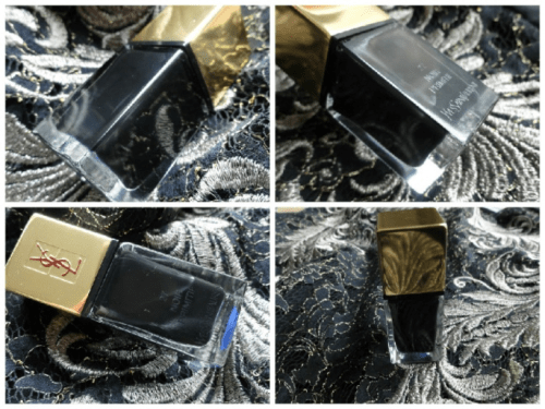 YSL La Laque Couture #27 Noir Primitif Nail Polish Review Swatches
