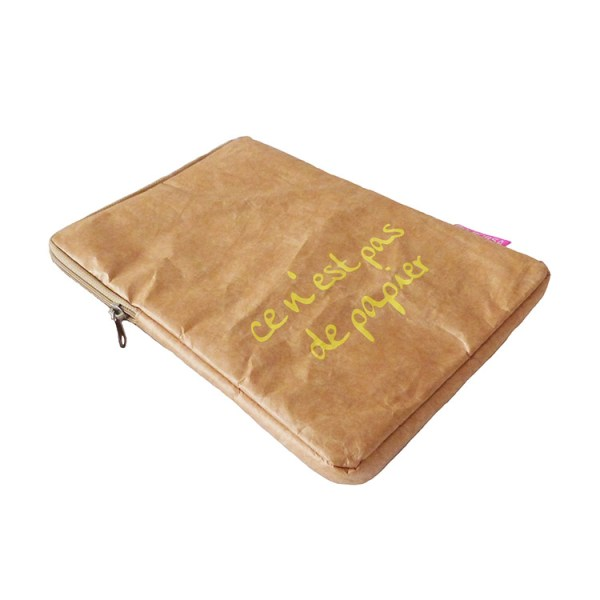 brown tyvek ipad sleeve, tyvek ipad cover
