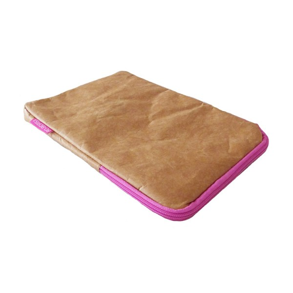 brown tyvek, ipad cover, ipad sleeve, pink zip
