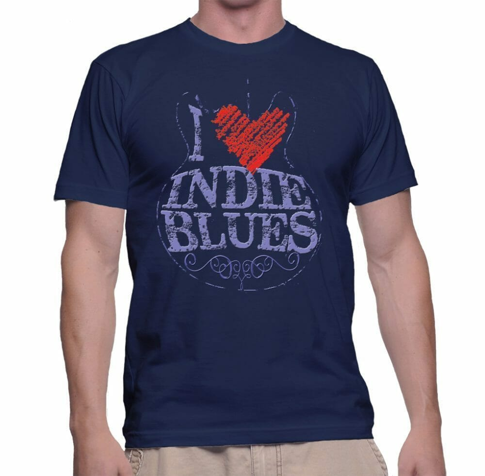 "Get your ""I LOVE INDIE BLUES"" T-shirt!!"