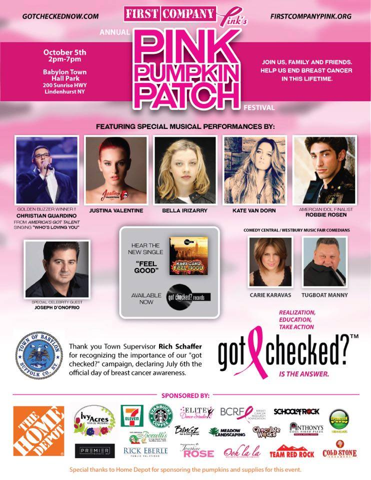 First Company Pink Holding Annual  Pink Pumpkin Patch Breast Cancer Fundraiser Thursday, October 5th