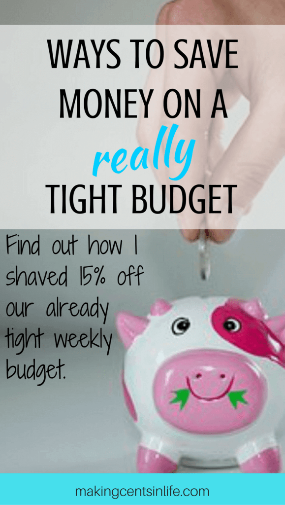 Finding ways to save money when you are already on a really tight budget can be hard. Find out what I did to shave 15% off our weekly budget when times got tough.