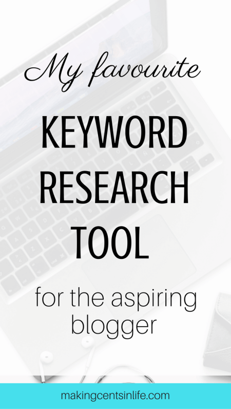 My favourite and best keyword research tool for aspiring bloggers. An easy to understand and simple tool to make finding your keywords a breeze.