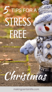 5 tips for a stress free Christmas! Do you struggle to plan and budget for Christmas every year? Get my simple top 5 tips on a stress free Christmas.